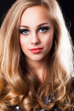 glamorous: attractive blond woman with glamorous look Stock Photo