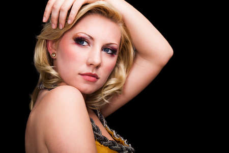 ravishing: attractive young blonde woman with glamorous look