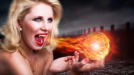 summoning: attractive vampire