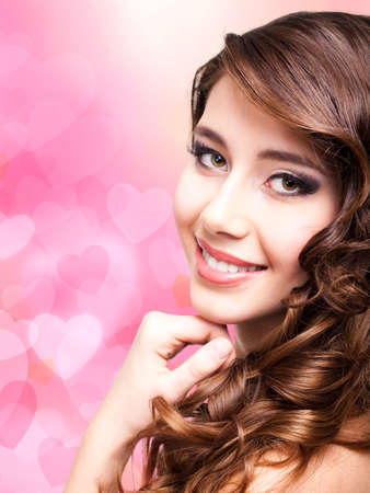 attractive smiling woman Stock Photo