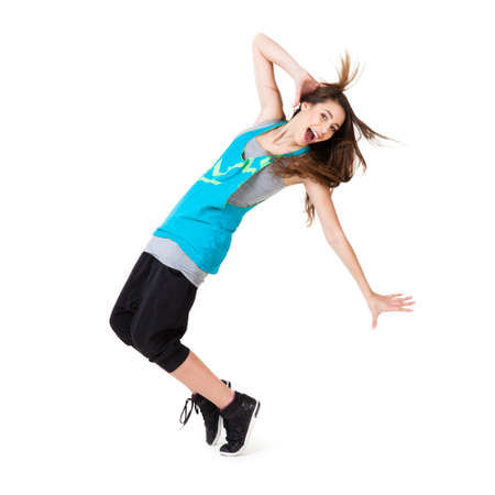 young dancing girl Stock Photo