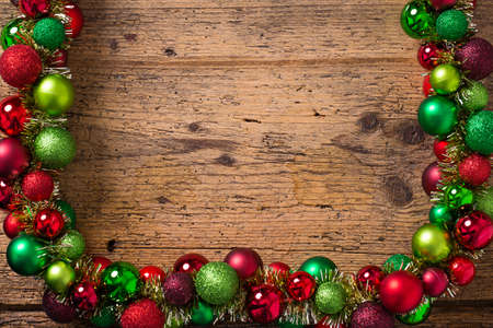 themed: christmas decoration on a wooden background