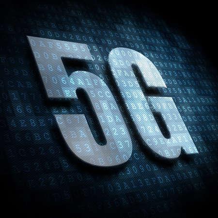 5G floating in digital space Фото со стока - 120032487