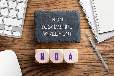 Cubes with acronym NDA for Фото со стока