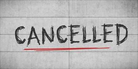 concrete wall with graffiti cancelled 版權商用圖片