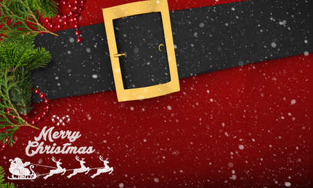 Christmas decoration and Merry Christmas message on wooden background Reklamní fotografie