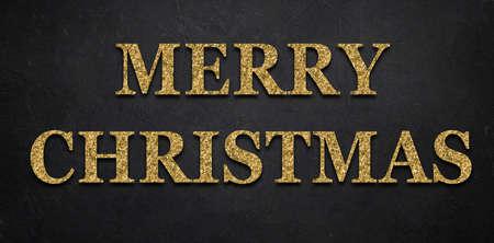glittery Merry Christmas message on dark background