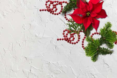 classic christmas decoration on white background Standard-Bild