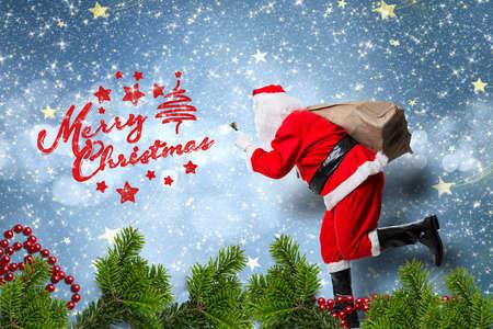 running Santa Claus and