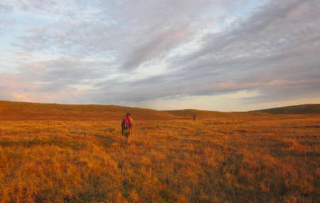 reservoirs: Tundra reservoirs. the Boundless northern open spaces. Stock Photo
