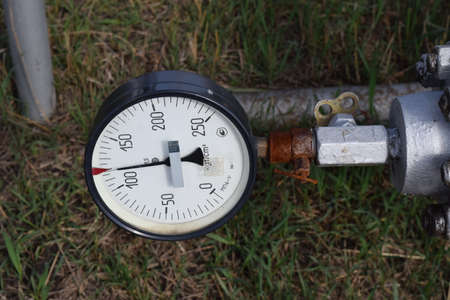 manometer: The manometer is the device for measurement of pressure Stock Photo