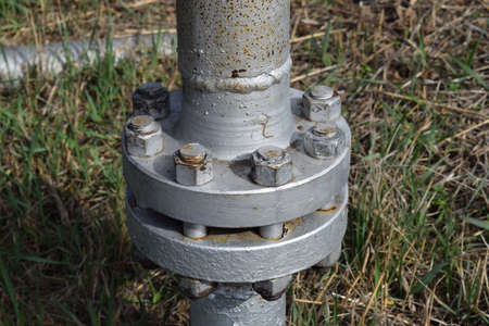 flange: Piping flange - many uses in the oil and gas industry.