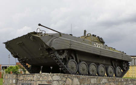 t34: tank. the militatank. the military monument, the tank which visited fight