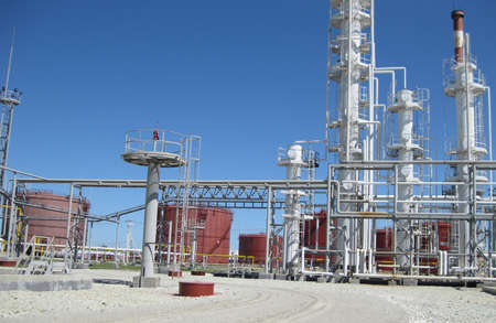 petrolium: Oil refinery. Equipment for primary oil refining.