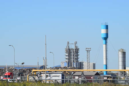 recycling plant: Waste recycling plant. Big plant for processing of household waste in Krasnodar Krai. Stock Photo