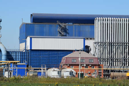 household waste: Waste recycling plant. Big plant for processing of household waste in Krasnodar Krai. Stock Photo