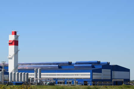 Waste recycling plant. Big plant for processing of household waste in Krasnodar Krai. Archivio Fotografico