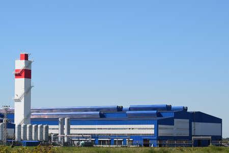 Waste recycling plant. Big plant for processing of household waste in Krasnodar Krai. Standard-Bild