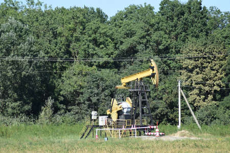 tightness: The pumping unit as the oil pump installed on a well. Equipment of oil fields.