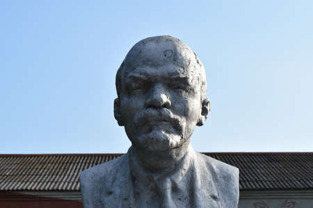 tyrant: Old monument to Lenin. A concrete bust of Lenin near recreation center in the rural settlement.
