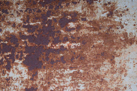 peeledoff: the sheet of iron rusty with the peeled-off paint. Background and texture Stock Photo