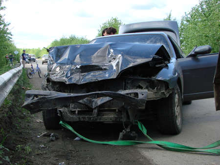 smashup: RUSSIA, KRASNODAR. May 16, 2014. Accident with participation of the car.