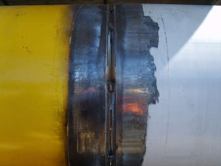 corrosion: Welding seam on the pipeline. Technology of welding connections.