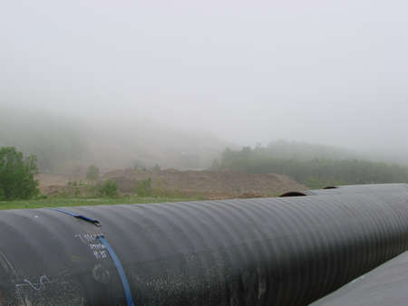 internally: Construction of the gas pipeline on the ground. Transportation of energy carriers.