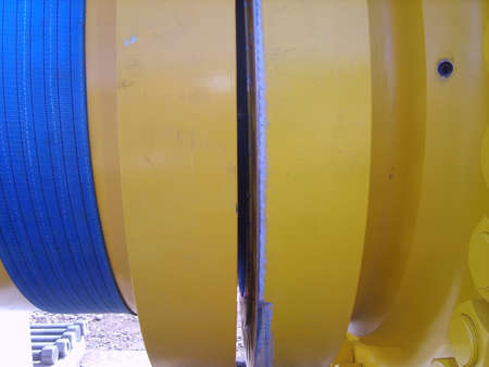 flange: The investigated flange connection of the pipeline. Installation works.