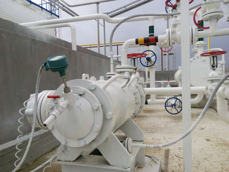 stabilization: The pump for pumping hot products of oil refining. Equipment refinery.