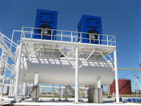 water cooling tower. Equipment for primary oil refining.