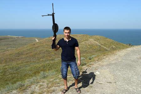 hoax: Man with a gun hoax. Open-air museum.