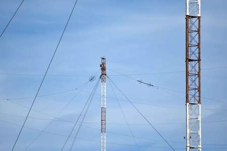 plataformas aéreas para la transmisión de las ondas de radio en el rango de onda larga. Medios de comunicación con submarinos.