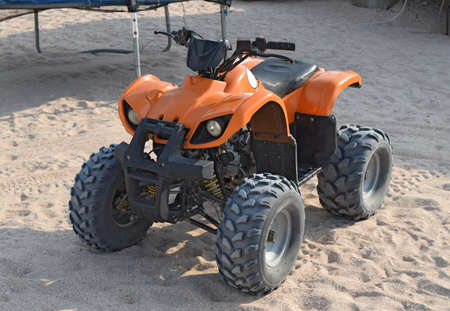 atv: Small ATV rentals. Rental services on the beach by the sea.