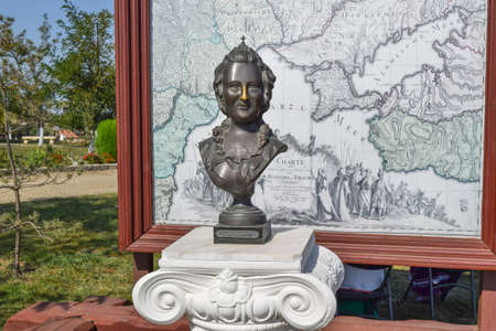 kuban: Bronze statue of Russian Empress Catherine II. Grated nose for good luck.