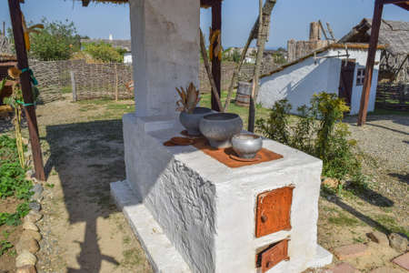cossacks: Russian Cossack outdoor oven. Outdoor oven for cooking food. Stock Photo