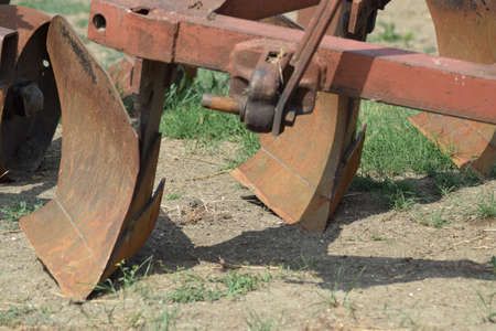 hitch: Trailer Hitch for tractors and combines. Trailers for agricultural machinery. Stock Photo