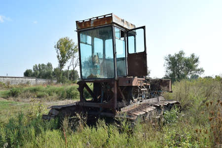 agricultural machinery: Combine harvester. Agricultural machinery for harvesting from the fields. Stock Photo