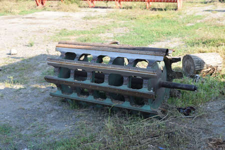 shearer: Threshing shearer drum. Internal parts. Parking farm equipment and accessories.