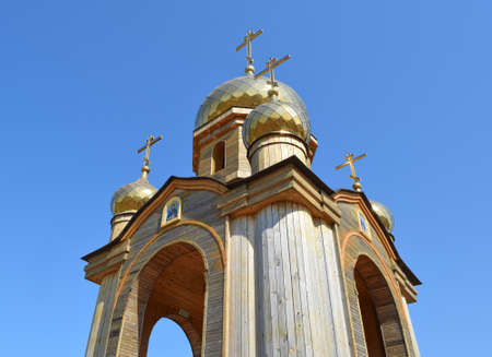 tabernacle: Orthodox chapel on a hill. Tabernacle in the Cossack village of Ataman.