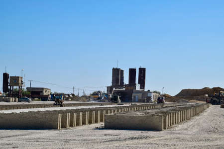 precast: on cinder block production plant. Machinery and plant products.