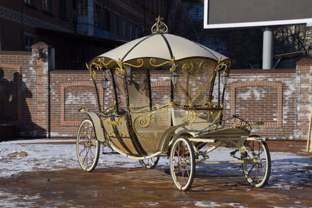 joyride: The coach of forged parts. Wrought iron decorative items.