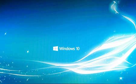 러시아, Poltavskaya 마을 -2016 년 8 월 13 일 : Windows 10 운영 체제 로고 화면.