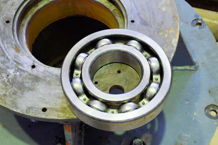 Friction bearing. Detail of an asynchronous electric motor. Repair of the electric motor. Stock fotó