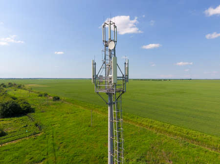 Cellular tower. Equipment for relaying cellular and mobile signal.