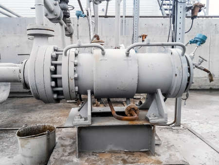 power: The pump for pumping of oil and  products. Oil refinery. Equipment for primary oil refining.