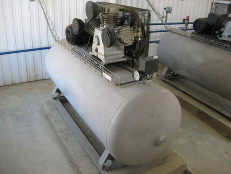 Air compressor. equipment for creation of pressure  air. Equipment for primary oil refining.
