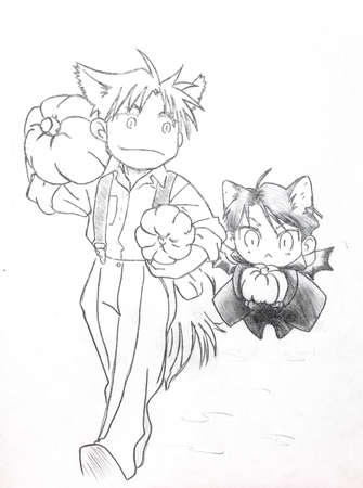 Drawing in the style of anime. The image of a fictional character, a girl cat in the picture in the style of Japanese anime