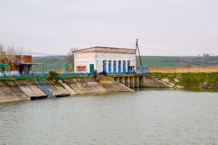 Water pumping station of irrigation system of rice fields