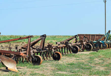 Trailer Hitch for tractors and combines. Trailers for agricultural machinery. Reklamní fotografie